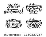 hello autumn. hand drawn... | Shutterstock .eps vector #1150337267