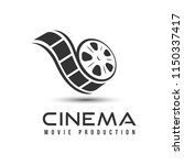 cinema icon  emblem isolated on ... | Shutterstock .eps vector #1150337417