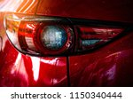 Red compact suv car with sport...
