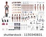 african american sportswoman or ... | Shutterstock .eps vector #1150340831