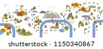 horizontal banner with trail... | Shutterstock .eps vector #1150340867