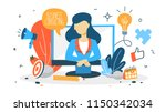 business consulting concept.... | Shutterstock .eps vector #1150342034
