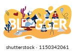 blogger concept illustration.... | Shutterstock .eps vector #1150342061