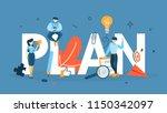 plan concept. idea of business... | Shutterstock .eps vector #1150342097