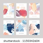collection of vertical abstract ... | Shutterstock .eps vector #1150342604