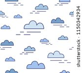 modern seamless pattern with... | Shutterstock .eps vector #1150342934