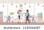handshake two colleagues.... | Shutterstock .eps vector #1150346087