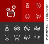 medal icon with tooth ...
