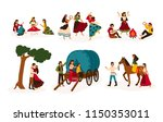 set of lifestyle scenes with... | Shutterstock .eps vector #1150353011
