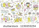 pattern with slogans for tee... | Shutterstock .eps vector #1150353254