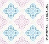 decorative hand drawn seamless... | Shutterstock .eps vector #1150356287