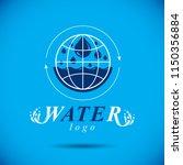 pure aqua ecology vector logo.... | Shutterstock .eps vector #1150356884