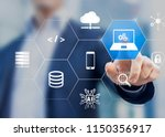 information technology concept... | Shutterstock . vector #1150356917