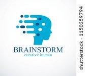 brainstorm concept  vector... | Shutterstock .eps vector #1150359794
