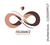 racial tolerance between... | Shutterstock .eps vector #1150359917