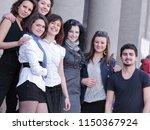 friends students standing in... | Shutterstock . vector #1150367924