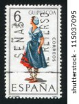 spain   circa 1968  stamp... | Shutterstock . vector #115037095