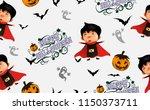 happy halloween.trick or treat... | Shutterstock .eps vector #1150373711