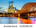 view on cologne cathedral and... | Shutterstock . vector #115038145