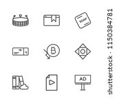 modern simple vector icon set.... | Shutterstock .eps vector #1150384781