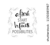 a fresh start and infinite... | Shutterstock .eps vector #1150385987