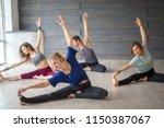 morning training  yoga  pilates ... | Shutterstock . vector #1150387067