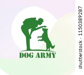 dog and man logo | Shutterstock .eps vector #1150389287