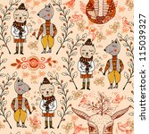 vector seamless pattern with... | Shutterstock .eps vector #115039327