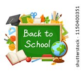 vector back to school... | Shutterstock .eps vector #1150400351