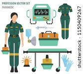 profession and occupation set.... | Shutterstock .eps vector #1150409267