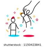 vector business illustration of ... | Shutterstock .eps vector #1150423841