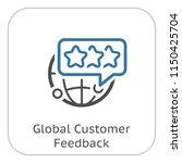 global customer feedback line... | Shutterstock .eps vector #1150425704