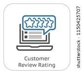 customer review rating line... | Shutterstock .eps vector #1150425707