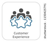 customer experience line icon.... | Shutterstock .eps vector #1150425791