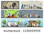 film studio building interior.... | Shutterstock .eps vector #1150435934