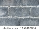 close up of grey brick wall for ... | Shutterstock . vector #1150436354