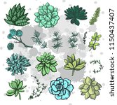 graphic set of colored... | Shutterstock .eps vector #1150437407