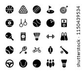 sports glyph icons  | Shutterstock .eps vector #1150439534