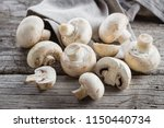 Fresh Mushrooms Champignons On...