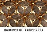 perforated solid gold... | Shutterstock . vector #1150443791
