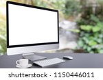 computer keyboard and mouse... | Shutterstock . vector #1150446011