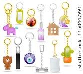trinket vector metal keychain... | Shutterstock .eps vector #1150447991