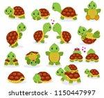 turtle vector cartoon seaturtle ... | Shutterstock .eps vector #1150447997