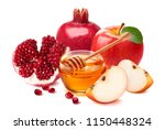 jewish new year composition.... | Shutterstock . vector #1150448324