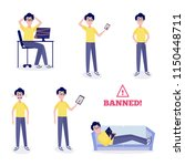 blocked access to internet... | Shutterstock .eps vector #1150448711