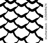 mermaid tail black and white... | Shutterstock .eps vector #1150449674