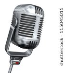 vintage microphone   isolated... | Shutterstock . vector #115045015