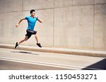 health and fitness concept. man ... | Shutterstock . vector #1150453271