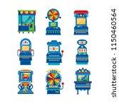 arcade game machines set  retro ...   Shutterstock .eps vector #1150460564