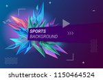 sports background vector... | Shutterstock .eps vector #1150464524